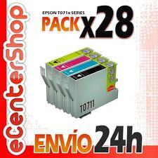 28 Cartuchos T0711 T0712 T0713 T0714 NON-OEM Epson Stylus SX215 24H