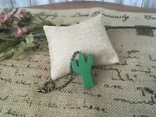 Wooden Cactus Fan Pull Chain Room Decoration NWOT!