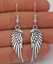 925 Silver Plated Hook - 2.1'' Eagle Angel Wing Party Fashion Women Earrings#61