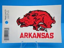 "VINTAGE... ""ARKANSAS RAZORBACKS"" -  STICKER / DECAL- NEW OLD STOCK.... ""L@@K"""