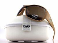 RARE NEW Authentic D&G Dolce & Gabbana Beige Crystal Sunglasses DG 8035-B 791/73