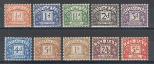 Great Britain Sc J45-J54 MLH. 1955-1957 Postage Dues, complete set, F-VF