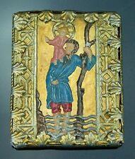Breverl amuleto peregrinaje klosterarbeit hl. Christophorus 1800 Baroque Amulet