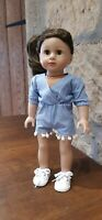 "AMERICAN GIRL/OUR GENERATION 18"" Dolls *Handmade* Cute Chambray Summer Playsuit"