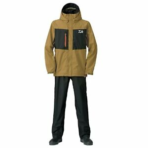 DAIWA Rain Max Suits DR-36008 BROWN Fishing Jacket Pants SET Japan F/S NEW