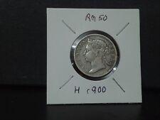 20cent 1900--victoria strait--silver coin--gvfine condition
