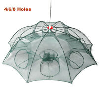 Foldable Fishing Bait Trap Crab Net Crawdad Shrimp Cast Dip Cage Fish Minnow Hot
