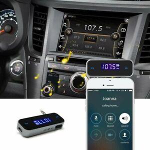 Wireless 3.5mm Music Audio FM Transmitter In-car Transmitter car mp3 Transmitter
