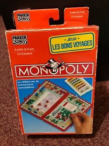 Retro French Monopoly travel board game complete and in excellent condition