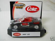 Matchbox MG MGF 1.8i  Coca-Cola Coke with Display Stand 1/64 Scale
