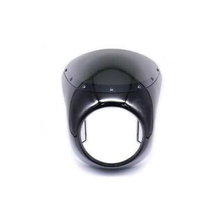 7'' Headlight Fairing Windshield Windscreen For Retro Harley Cafe Racer Chopper