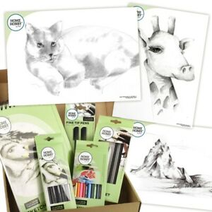 HOMEHOBBY Sketch Studio Set Plus Intermediate Level 66pcs + Stufe Von