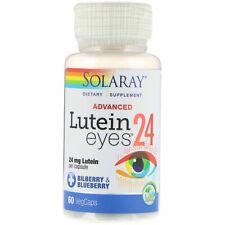 Brand New Solaray Advanced Lutein Eyes 24 -  60 vcaps Exp 10/22 2D