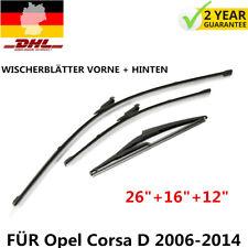 Neueste SCHEIBENWISCHER WISCHERBLÄTTER VORNE + HINTEN FÜR Opel Corsa D 2006-2014