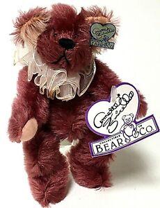 """Annette Funicello 6.5"""" POLLY Burgundy Mohair Teddy Bear"""