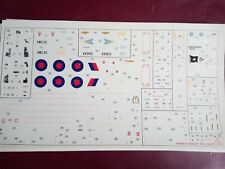 DECAL SHEET  1/48 SCALE HAWKER SIDDELEY BUCCANEER S2B