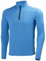 Helly Hansen Workwear Chelsea Active Long Sleeve Polo Zip 75063 Blue 2XL #HH16