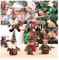Christmas Gnome Santa Reindeer Xmas Tree Hanging Ornament Doll Toy Decor Gift