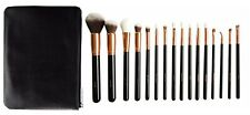 Makeup Brushes Set Face eye brush 16 Rose gold brush set with case pouch clutch