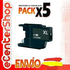 5 Cartuchos de Tinta Negra LC1240 NON-OEM Brother MFC-J430W / MFCJ430W
