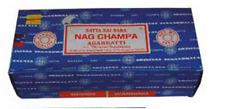 INCENSO NAG CHAMPA ORIGINALE (Satya Sai Baba) - BOX CON 12 ASTUCCI DA 15 Gr.