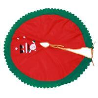 Santa Claus Snowman Christmas Tree Skirt Stands Ornaments Xmas Home Decor O3