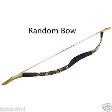 "30LB 43"" Recurve Bow Fiberglass Wooden Bow and Arrows Hunting Archery Practice"