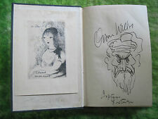 SIGNED BY ORSON WELLES WITH ORIGINAL SELF-PORTRAIT DRAWING - HEARTBREAK HOUSE
