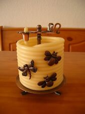 Candle By The Hour Beeswax Candle Stand & RARE 3pc Home Interiors Candle Pins