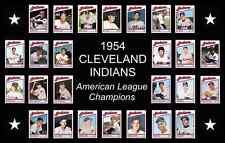 1954 CLEVELAND INDIANS Baseball Card POSTER Art Man Cave Decor Fan Xmas Gift