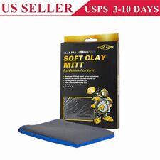 Microfiber Clay Glove Mitt Car Care Cleaning Faster Than Clay Bar Towel Cloth US