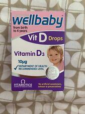 Vitabiotics Wellbaby Vit D Drops Vitamin D3 30ml New