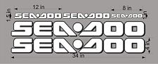 SEA-DOO-WHITE-3D-LOGO-4x34-DECAL-SET-GRAPHIC-STICKER-PACKAGE, REPLACEMENT