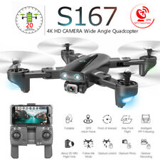 S167 Best Camera Drone GPS 4K HD Dual Camera Follow Me Quadrocopter FPV Drone