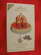 "Wizard of Oz Ruby Slippers ""Its All In The Shoes"" RARE Hallmark Ornament NEW!!"