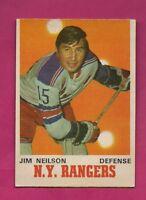 1970-71 OPC  # 185 NY RANGERS JIM NEILSON EX-MT CARD (INV# A4766)