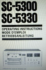 SANSUI SC-5300 SC-5330 ST CASSET TAPE DECK OPERATING INSTRUCTIONS ENG FRANC DEUT