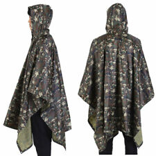 US Army Waterproof RipStop Hooded Rain Military Poncho Camping Hiking - US Stock