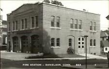 Danielson CT Fire Station Real Photoc1950 Postcard