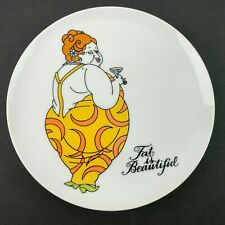 Fat is Beautiful Fitz and Floyd Decorative Display Collectors Salad Plate Ff V2