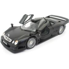 1998 MERCEDES BENZ CLK-GTR STREET VERSION MATTE BLACK 1:18 SCALE BY MAISTO 36849