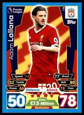 Match Attax 2017-2018 Adam Lallana Liverpool No. 175