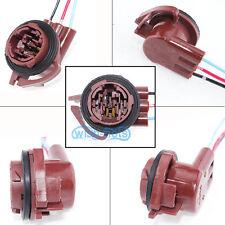 A Pair 3157 4157NA Bulb Socket Turn Signal Light Harness Wire Plug Connectors