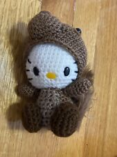 Hello Kitty in Squirrel Costume Amigurumi Plush (Handmade)