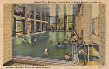 Postcard Mineral Water Swimming Pool Hall Waters Excelsior Springs MO