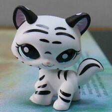 LPS COLLECTION LITTLEST PET SHOP BLACK WHITE TIGER CAT RARE TOY 3""