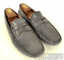 e5267792a92dc TOD'S Gommino Gray Leather Penny Loafer Driving Moccasins Shoes w/ Box - 10