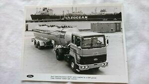 FORD Transcontinental HA4427 Artic & Fruehauf Tanker Lorry Press Photo Brochure