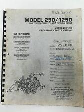 Bandit 250 1250 Wood Chipper Operating & Parts Manual