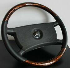 Steering Wheel Mercedes Benz OEM Wood Zebrano Leather W123 W124 W126 R107 G